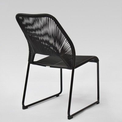 Fisher 4pk Patio Dining Chair Black - Project 62™ (With ...