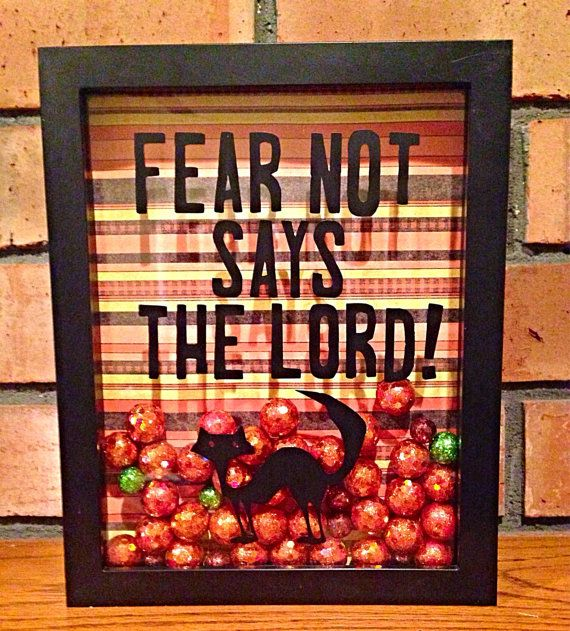 items similar to fear not says the lord halloween shadow box on etsy - Christian Halloween Decorations