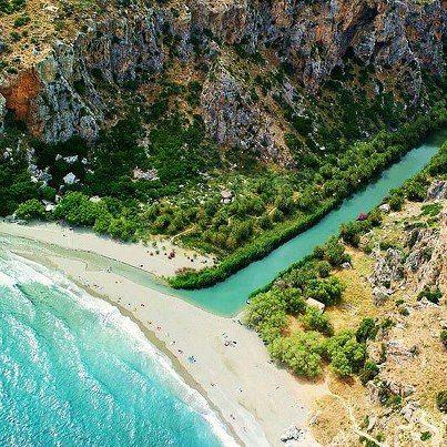 Preveli beach, Crete Island, Greece