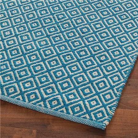 Cotton Diamond Flat Weave Rug: 4 Colors
