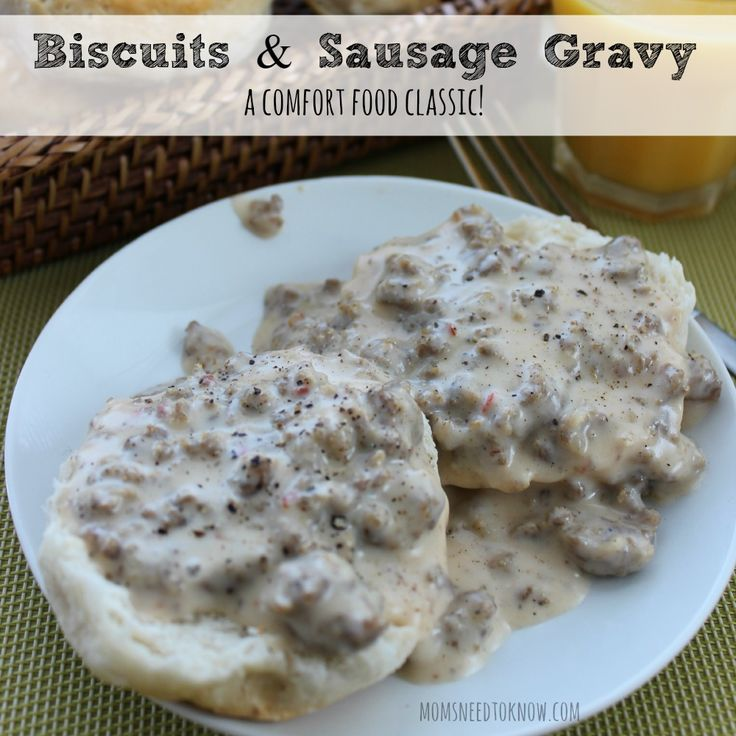 Biscuits and Sausage Gravy Recipe - A Comfort Food Classic sq