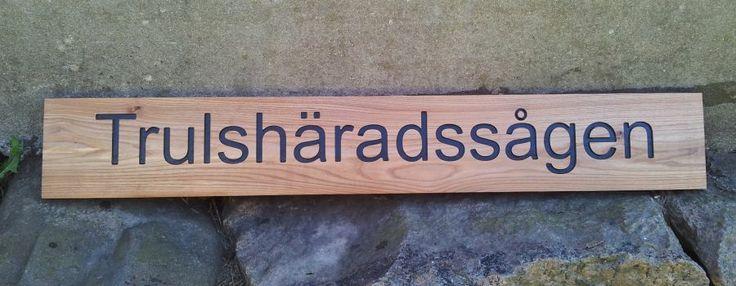 Wood sign elm. (Träskylt alm)  hastohem.se