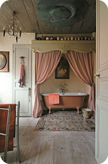 House of She: {Palette of The Week} - Country Hues (This would be a great guest bathroom for, you guessed it, my MOMMY).