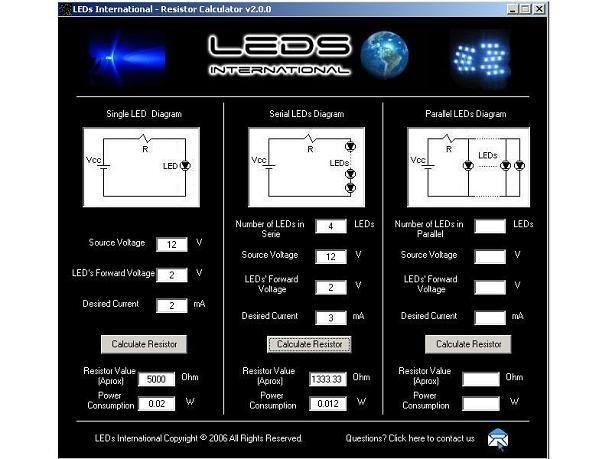 Download Resistor Calculator For Leds Serial And Parallel Resistors Calculator Parallel