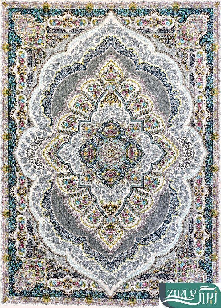 فرش قصر ایرانیان طرح زبرجد کد ۵۰۵۴ Bohemian Rug Rugs Decor