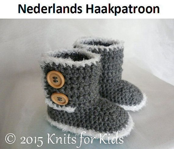 Nederlands Haakpatroon Uks Boots 6 24 mnd door ElodyKnitsforKids