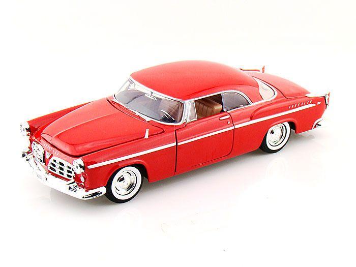 "Motor Max 1955 Chrysler C300 Classic 1:24 scale 8"" diecast model car Red M91 #Motormax #Chrysler"