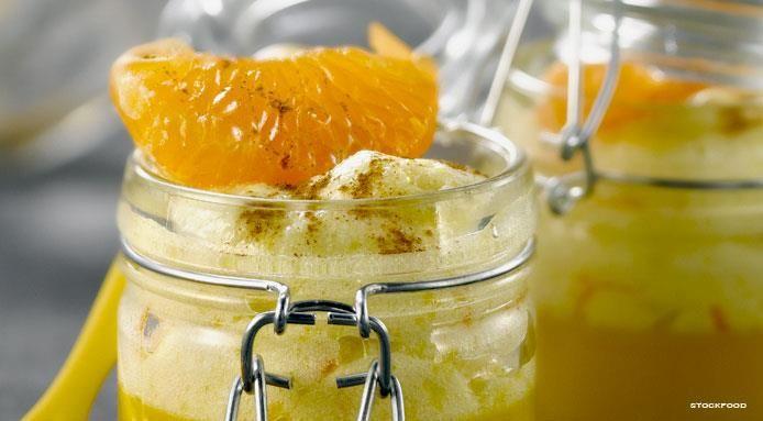 Mousse all'arancia e cannella