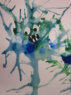 Drippy Monsters--Learn about Jackson Pollock's technique, then add your own…