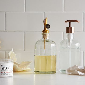 Copper Top Pump + Pour Soap Dispensers #WestElm