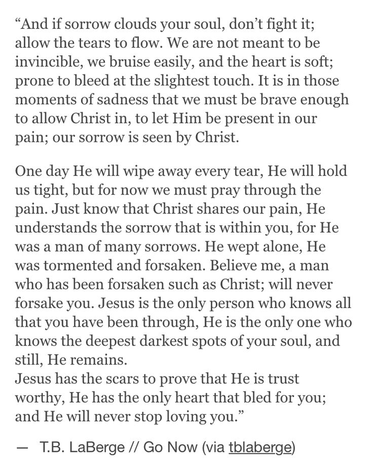 I love this so much. Jesus understands the struggles that we go through in our daily lives because He experienced them as well.
