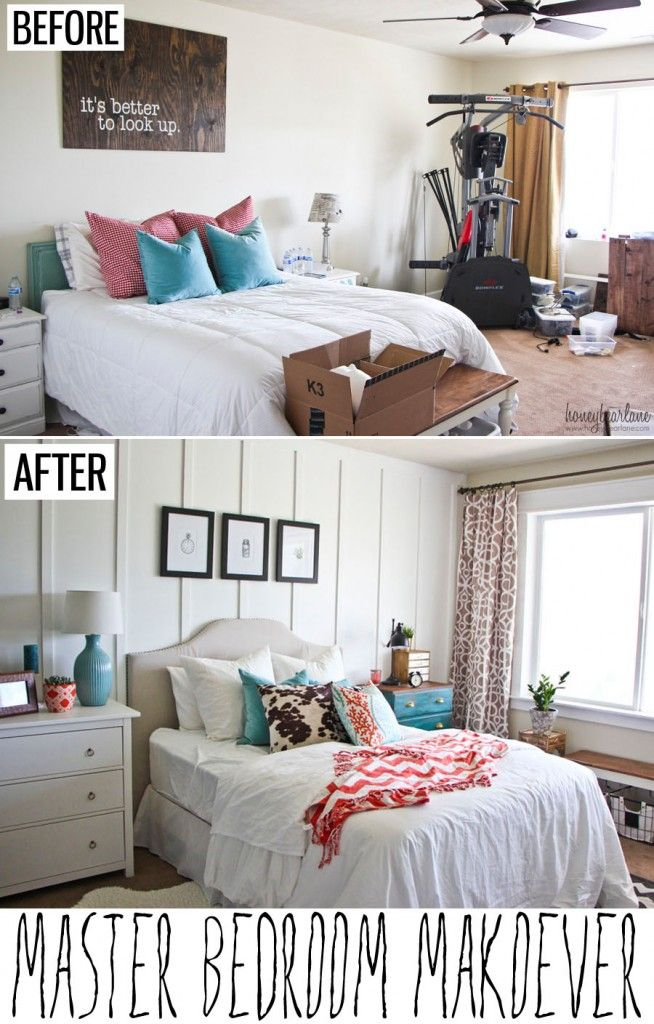 Master Bedroom Makeover After: Beadboard / Board & Batten On