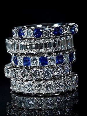 diamond and sapphire rings! What I want my wedding band to be