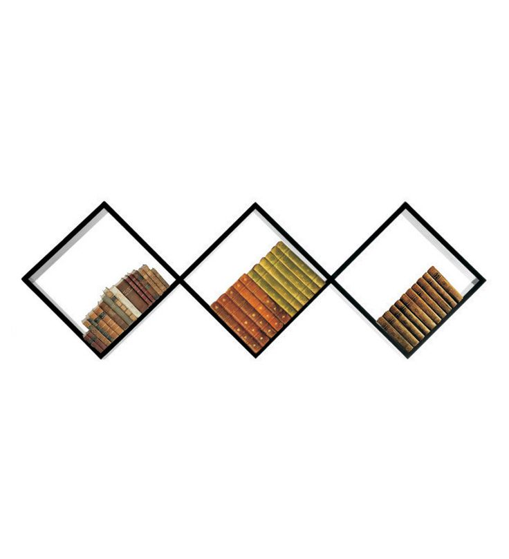 Diagonal Book Shelf by Safal Quartz Online - Wall Shelves - Home Decor - Pepperfry Product