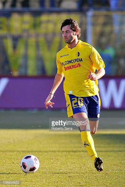 Cris Gilioli of Modena in action during the Serie B match between Modena FC and FC Crotone at Alberto Braglia Stadium on February 5 2011 in Modena...