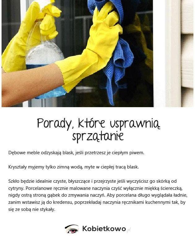 Domowe porady dotyczące sprzątania. TRICKI KTÓRYCH NIE ZNAŁEŚ! 7 NAJLEPSZY!