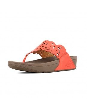Ultra Orange Sandals Womens Fitflop Flora In Leather
