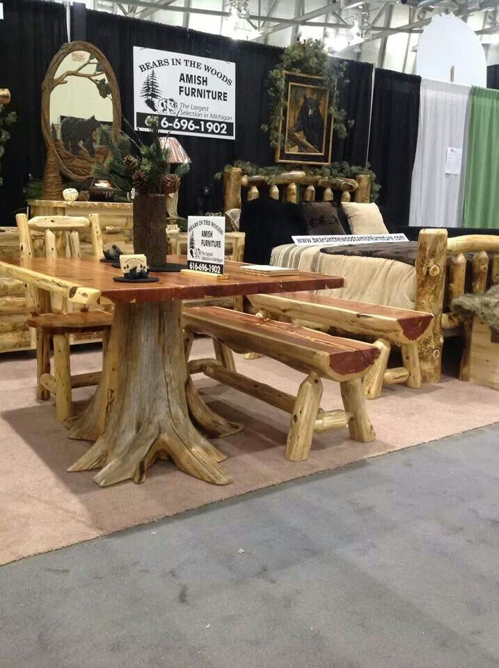 45 Best Images About Log Furniture On Pinterest Wood Candle Holders Rustic Log Furniture And