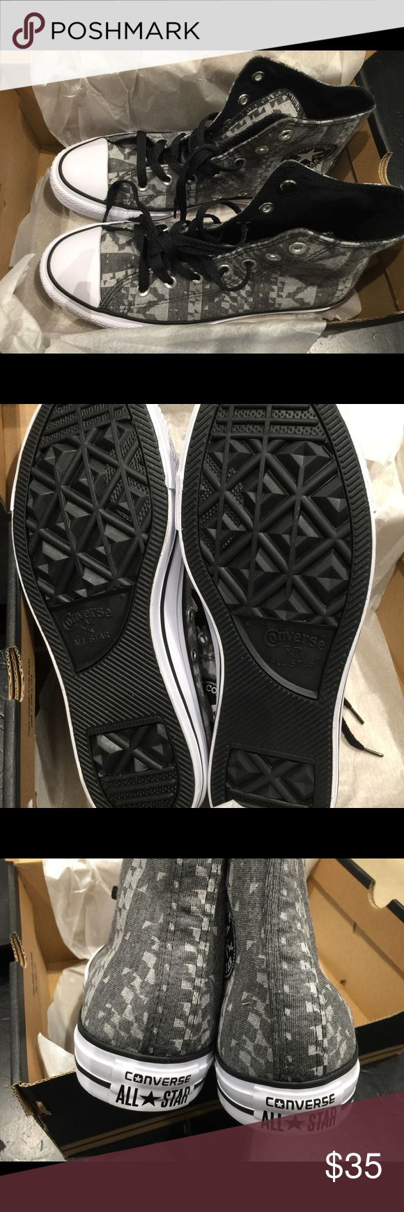 💕ONE HOUR QUICK SALE💕Converse CT HI BLACK/white Brand New in box. Converse Chuck Taylor 549650c Converse Shoes Sneakers
