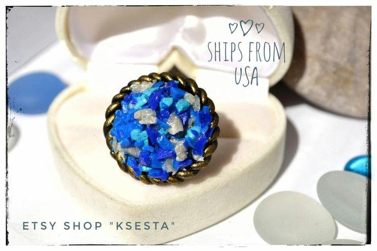Excited to share the latest addition to my #etsy shop: Gypsy ring Boho chic jewelry Round ring Blue and white ring Imitation of gems Raw stone imitation Statement jewelry Best girlfriend gift #gypsy_ring #Boho_chic_jewelry #round_ring #blue_and_white_ring #imitation_of_gems #raw_stone_imitation #statement_jewelry #best_girlfriend_gift #Bohemian_jewelry #ksena_rybka #Ksesta_etsy http://etsy.me/2El0t9U