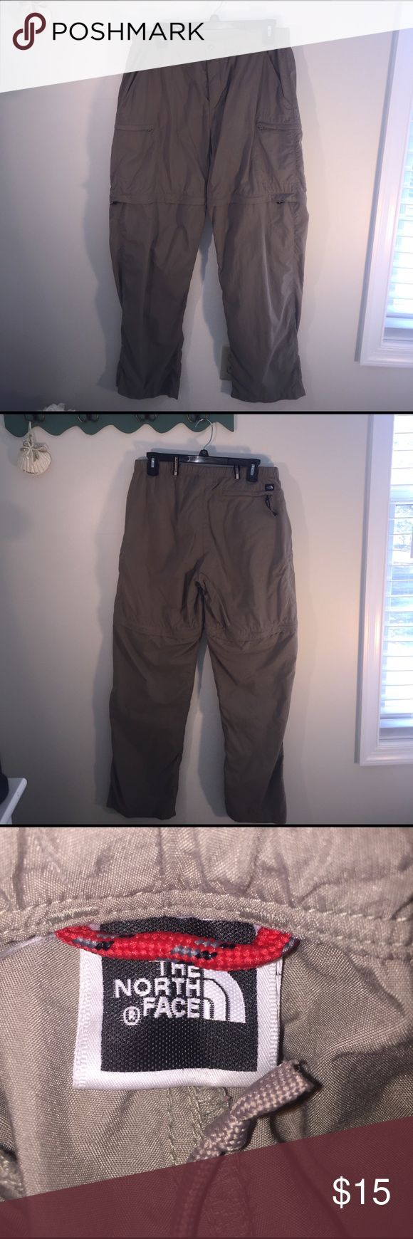 """The North Face Sz 8 Convertible Outdoor Pants EUC The North Face Sz 8 Convertible Outdoor Pants Size Tag Has Been Removed But Brand Tag Still in Tact see photo. Great Outdoor Trail Hiking Pants with zippers to convert into Shorts 30"""" Inseam Excellent Condition The North Face Pants"""