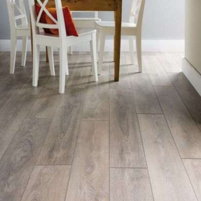 Colours Amadeo Grey Traditional Oak Effect Laminate