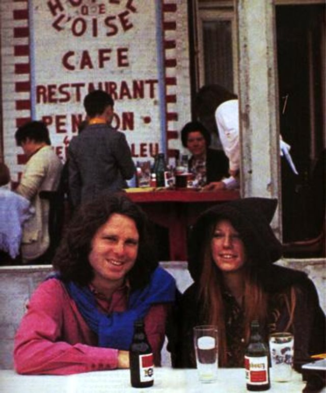 """On June 28, 1971, Jim Morrison, Pamela Courson, and their friend, Alain Ronay, took a day trip to Saint-Leu-d'Esserent, north of Paris, less than a week before Jim died on July 3. These are the last known photos of Jim..."""