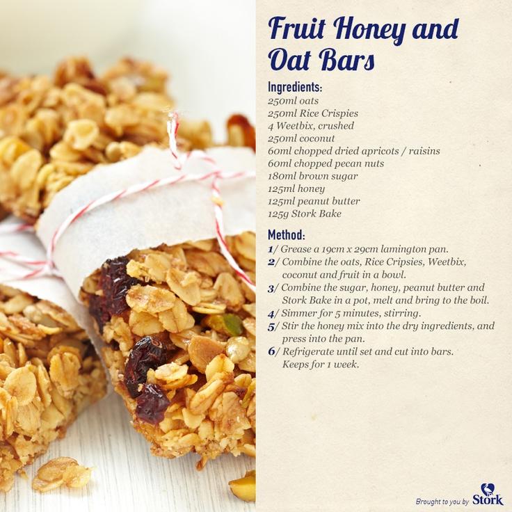 Fruit Honey  Oat Bars #recipe