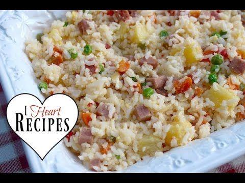 Dollar Tree Gourmet | Hawaiian Style Fried Rice  - Budget Friendly & Frugal - I Heart Recipes - YouTube