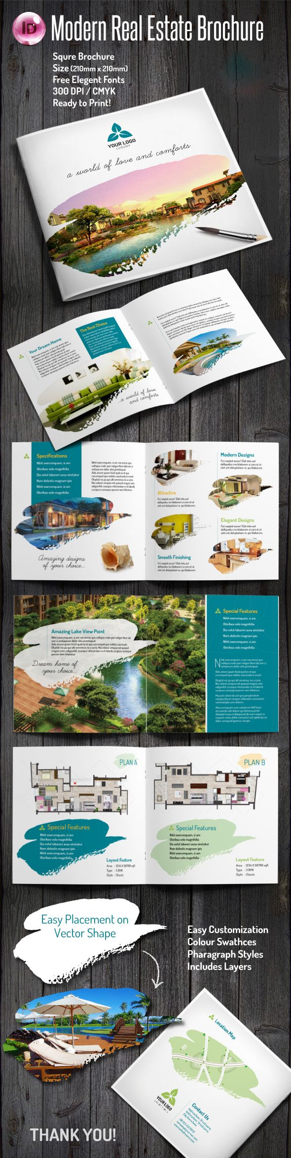best images about advertising marketing buy modern real estate brochure by laksme on graphicriver elegant square shape brochure vector shape image place holder easy to customize logo