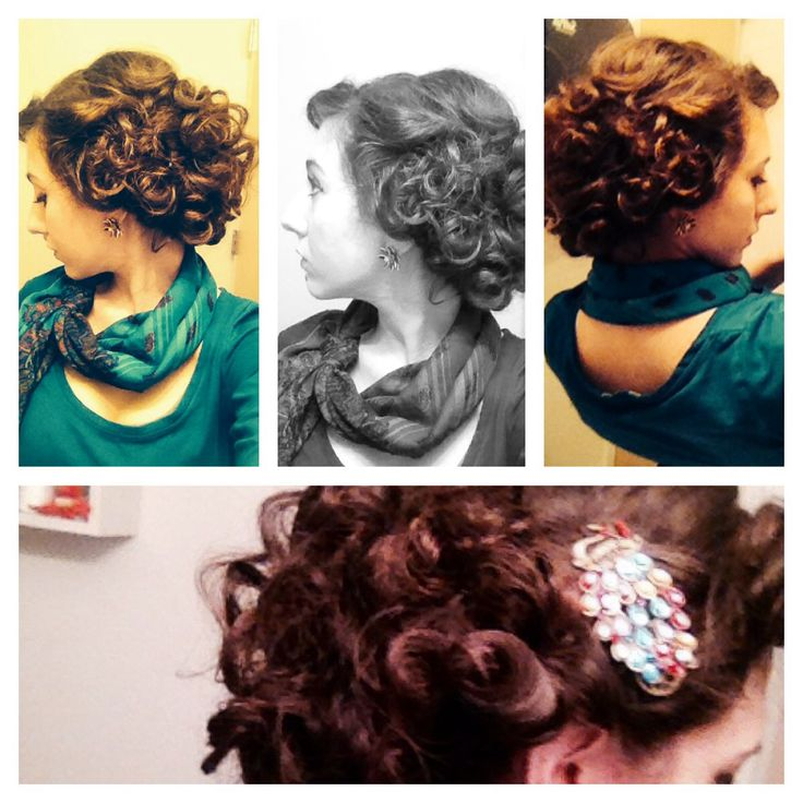 Easy Vintage Hairstyles For Curly Hair : Best curly hair images on hairstyles