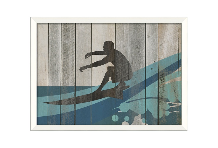 One Kings Lane - The Artwork Factory - Surfer on Wave II: Boys Bath