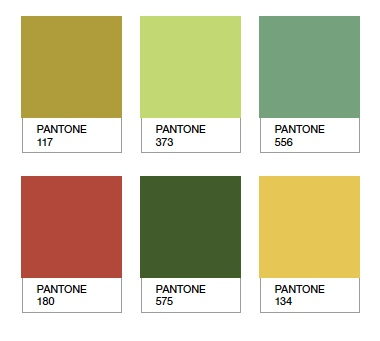 #color #palette {Colour palette for Marthe design.  by Sarah Parris & Howard Wakefield}