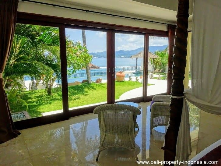 Manggis Beachfront Villa For Sale Bali Property Indonesia In 2020 House Exterior Large Hallway Open Plan Living
