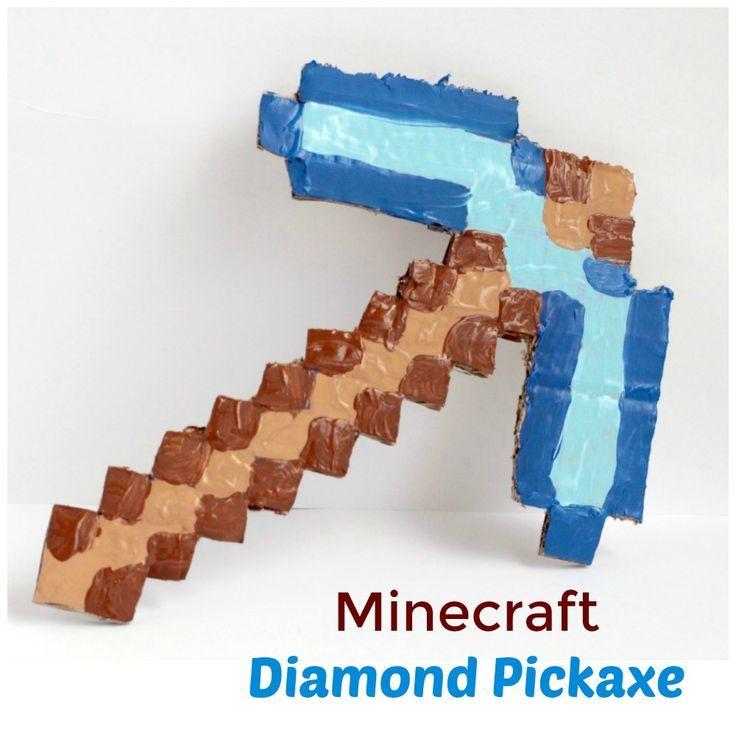 Minecraft-Inspired Cardboard Pickaxe | SKrafty