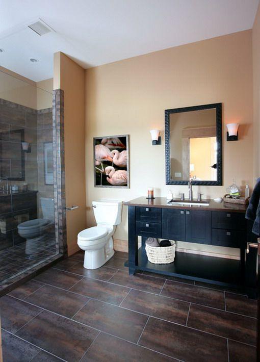 Orange Contemporary Bathroom Decoration
