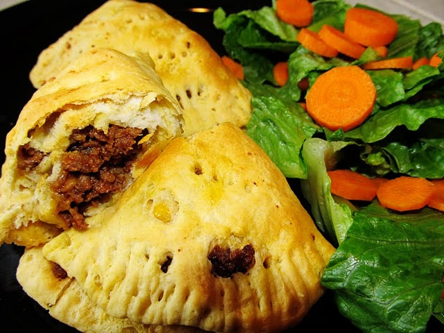 """Sloppy Joe Calzones...all you need is some sloppy joe mixture, tube of refrigerated biscuits and shredded cheese....great meal idea for one of those """"no-time-to-cook"""" nights! The whole family will love 'em!"""