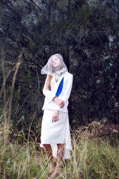 PEGGY HARTANTO SS15 Onyx Blazer and Moonstone Skirt of GEM