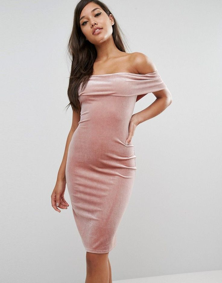 Buy it now. Rare London Off The Shoulder Velvet Dress - Brown. Bodycon dress by Rare, Soft-touch stretch velvet, Lined, Off shoulder design, Close-cut bodycon fit, Hand wash, 95% Polyester, 5% Elastane, Our model wears a UK 8/EU 36/US 4 and is 175cm/5'9 tall. ABOUT RARE Focusing on statement pieces with a truly feminine twist, boutique brand Rare take influence from catwalk trends and iconic style setters. Look out for party dresses and miniskirts adorned with sequins, ruffles and pleats; or…