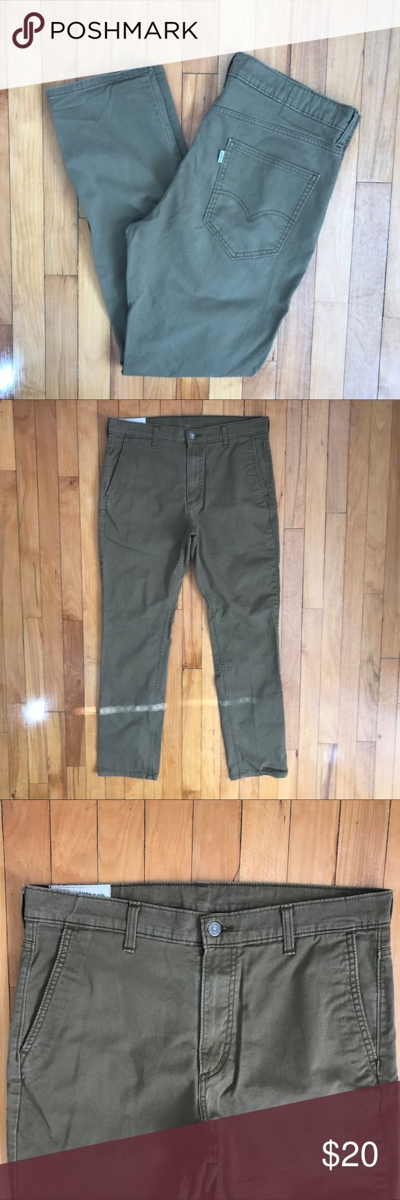 Men's Levi's khaki skinnies Very good condition. 34x32. {PP} Levi's Pants Chinos & Khakis