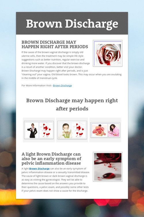 46 best images about Brown Discharge on Pinterest | Be simple, The ...