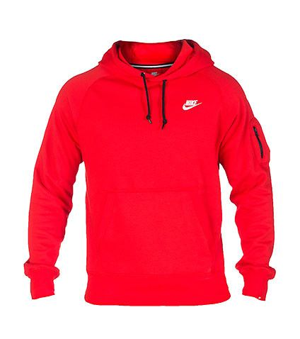 NIKE CLOTHING MENS NIKE ACE FLEECE PULLOVER HOODIE Medium Red