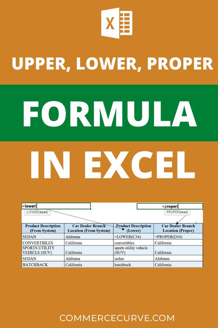 How to Use Upper, Lower, Proper Formula in Excel   Excel, Proper ...