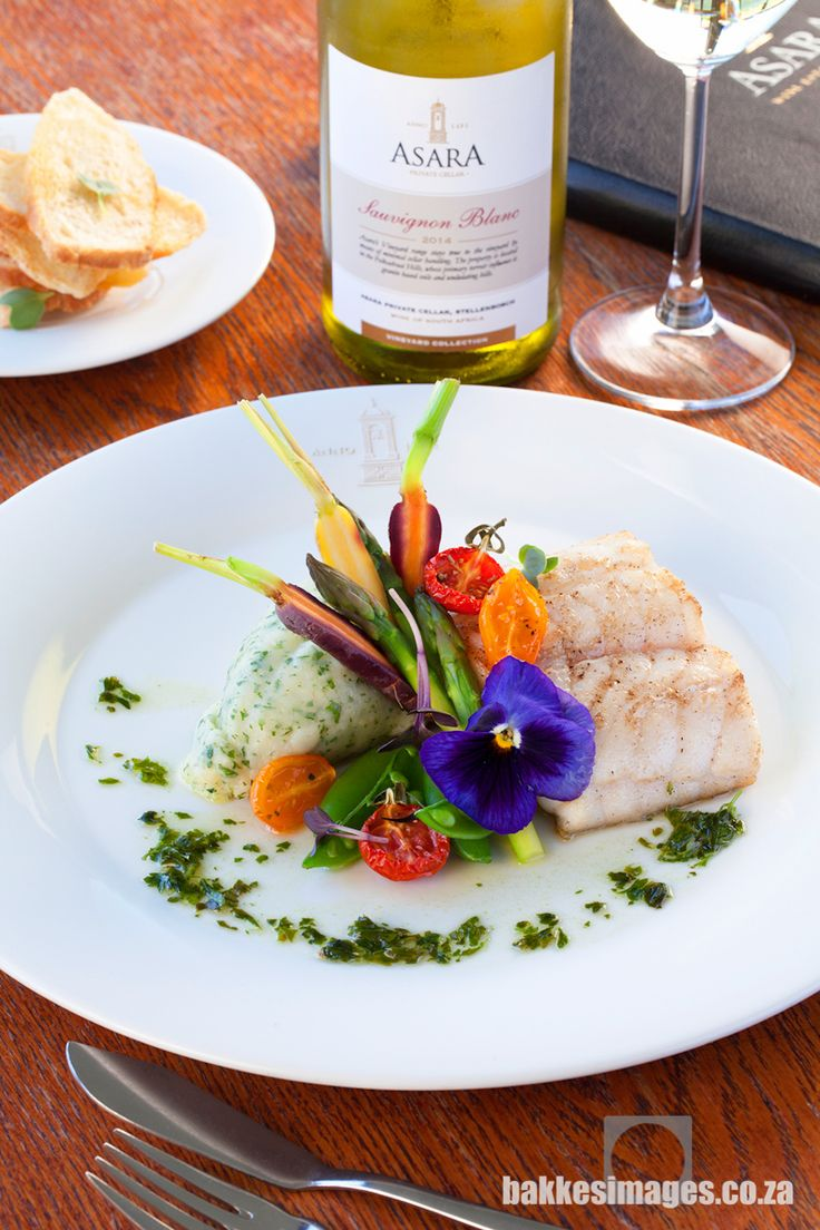 Asara Wine Estate & Hotel in Stellenbosch is a prestigious five star facility with magnificent food and wine. Yellowtail Fish by chef Craig Patterson Photography by bakkesimages.co.za.