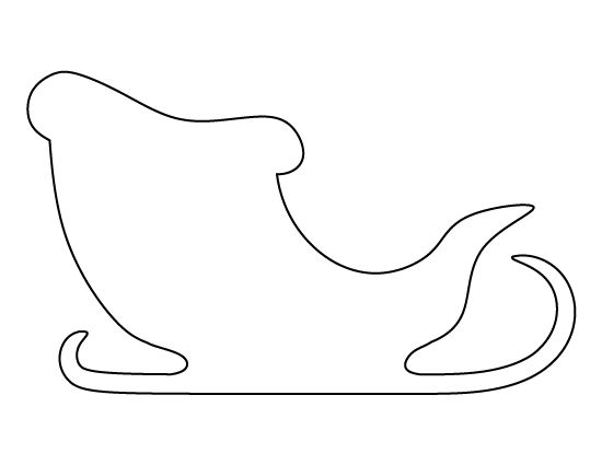 Printable Santa Claus sleigh pattern. Use the pattern for crafts, creating stencils, scrapbooking, and more. Free PDF template to download and print at http://patternuniverse.com/download/santa-claus-sleigh-pattern/.
