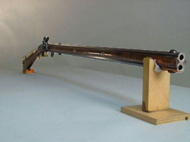 Double Barrel Flintlock Rifle Guns Flintlock Rifle