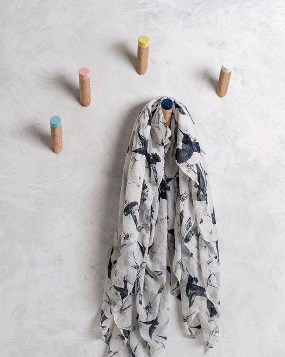 Entryway coat hooks modern wall hook kids room by loopdesignstudio