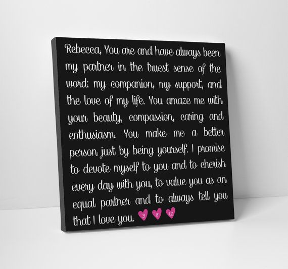 Wedding Vows On Canvas Formal Gift For Him Or By Thestandardcanvas 65 00