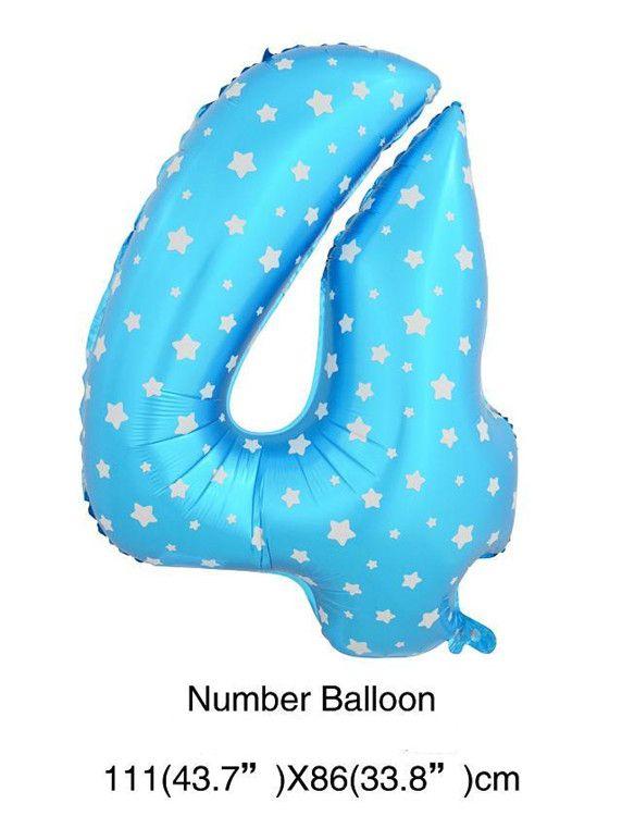 И ни в коем случае королевский синий розовый Номер 4 фольга воздушных шаров Девушки мальчики дети 4-й 14-й счастливым День Рождения украшения комплекты феста поставки