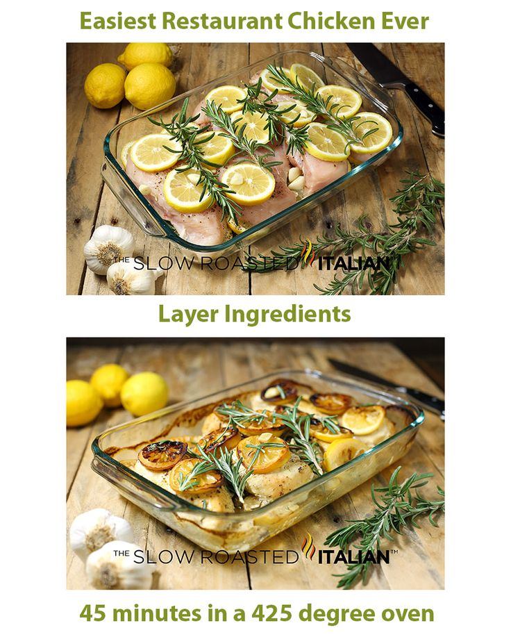 EASIEST EVER RESTAURANT CHICKEN – Rosemary Lemon Roasted Chicken Breasts #chicke…